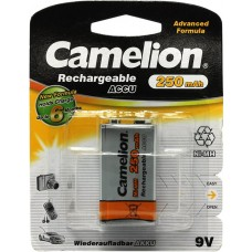 Аккумулятор Camelion NH-9V250BP1, Крона, 9V 250mAh 1шт. (5014)