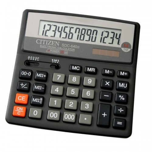 Калькулятор Citizen SDC-640 бухгалтерский 14 разрядов (SDC-640II)