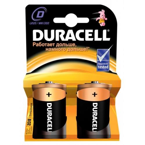 Батарейки щелочные Duracell Basic LR20-2BL 2шт (D)
