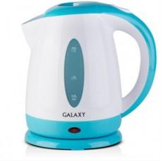 Чайник Galaxy GL 0221 (1,7 л/2200 Вт/Пластик/Закрытая спираль/(Белый/Голубой))