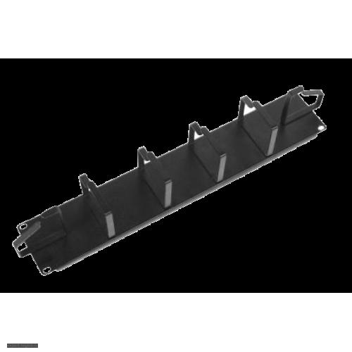 """Органайзер 19"""" горизонтальный, 2U, 6 колец, черный (ГКО-2-6-9005)"""