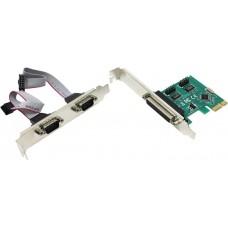 Контроллер PCI-Ex1 LPT (1-внешн.) + COM (2-внутр.), Orient XWT-PE2SLP, OEM