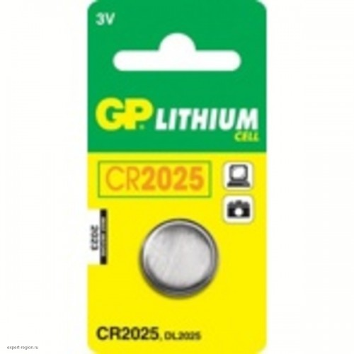 Батарейки литиевые GP Lithium CR2025 (1шт.)