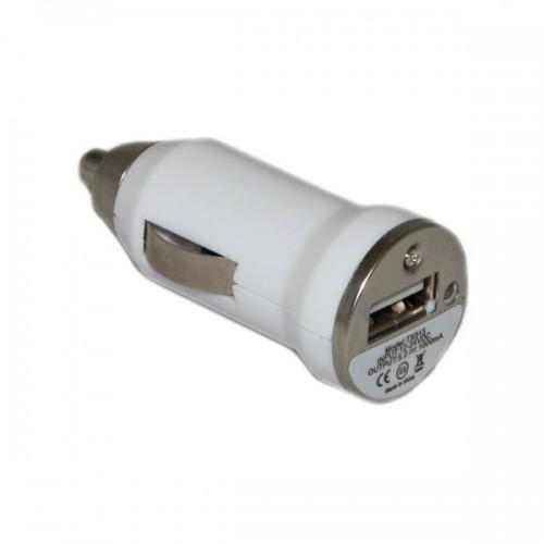 Автомобильный адаптер - АЗУ-USB для Apple iPhone 3 1000 mA (white)
