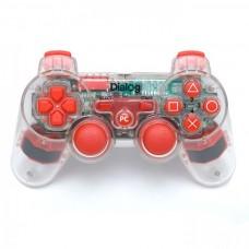 Геймпад Dialog GP-A17EL прозрачный/красный (подсветка) проводной, 2 мини-джойстика, крестовина, 12 кнопок