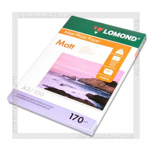 Бумага Lomond для фотопечати A3/260г/м2/20 листов, суперглянцевая (1103130)