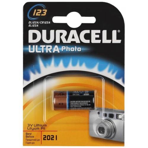 Батарейки щелочные Duracell Ultra 1шт (CR123A)