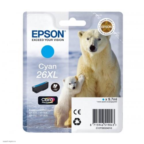 Картридж T26324010 Epson Expression Premium XP-6xx/7xx/8xx Cyan повышенной ёмкости