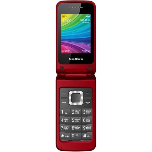 """Мобильный телефон Texet TM-204 2,4"""" red"""