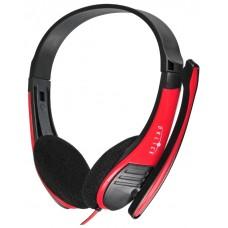 Наушники с микрофоном Oklick HS-M150 black/red (NO-003N)