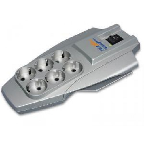 Фильтр сетевой Pilot X-Pro 1.8м (6 розеток) grey