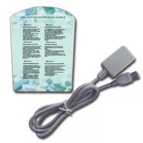 Кабель USB 2.0 Am-Af удлинитель активный  4.5м, белый (UAE016)