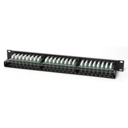 """Коммутационная панель Hyperline PPHD-19-48-8P8C-C5e-110D 19"""", 1U, 48 портов RJ-45, категория 5e, Dual IDC"""