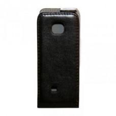 Чехол-книжка Activ кожа для Nokia 2700 (black) открытие вниз (A134)