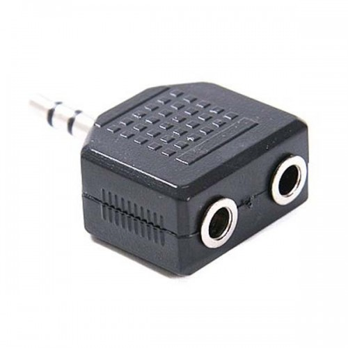 Адаптер Ningbo 2x3.5mm Jack(f)-3.5mm Jack(m) черный (JAAA095-B)