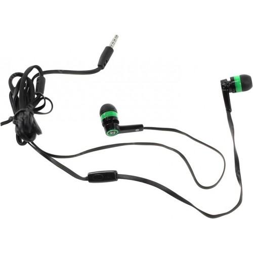 Наушники Defender Pulse-420 (green) с микрофоном проводные
