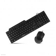 Клавиатура + мышь CROWN CMMK-520B, USB, черный