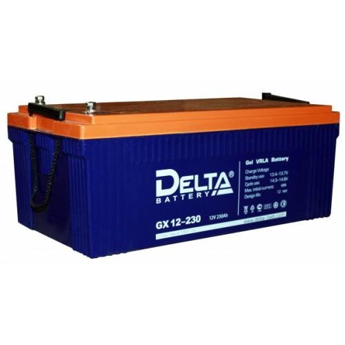 Аккумулятор DELTA GX 12-230 12V 230Ah (520x269x208мм/72.6кг)