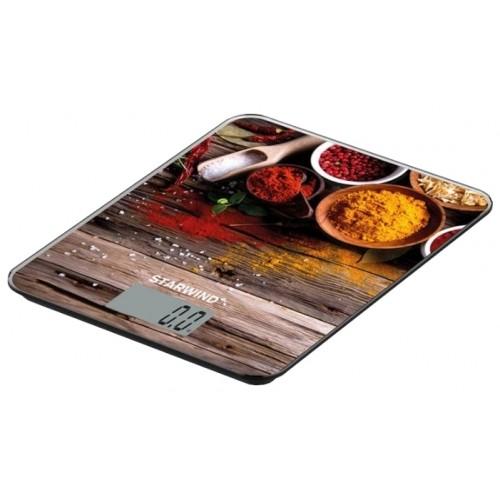 Весы кухонные STARWIND SSK3358,  рисунок (5кг/стекло)