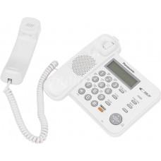 Телефон Panasonic KX-TS2358RUW white, ЖК дисплей, спикер