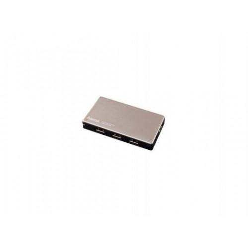 Концентратор USB 2.0 Hama 4 port, черный/серебристый, Блок питания (54544)