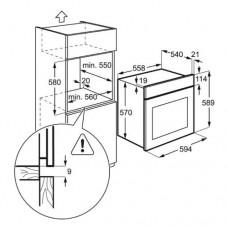 Встраиваемая духовка Electrolux EZB52430AX