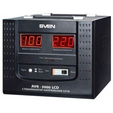 Стабилизатор напряжения Sven AVR-3000, 3000VA, 2400W, EURO, черный