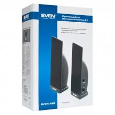 Акустическая система 2.0 SVEN 230 (2x2W пластик) USB, black
