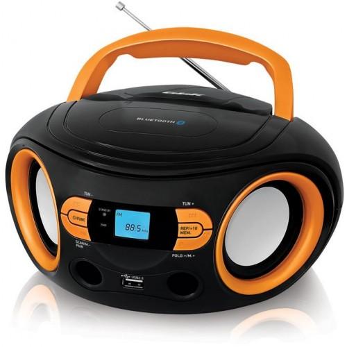 Магнитола BBK BS15BT черный/оранжевый