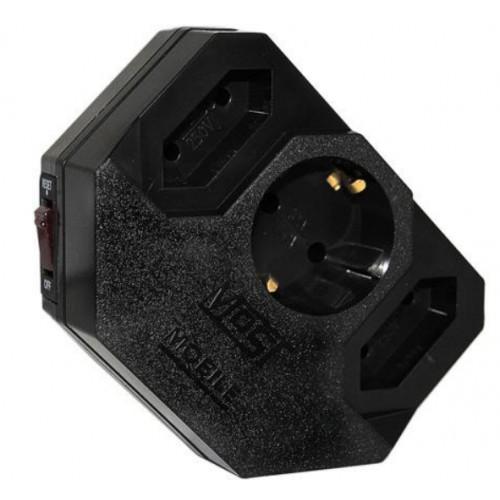Фильтр сетевой MOST MRG, 3-розетки, черный