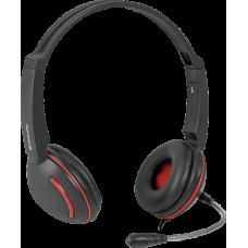 Гарнитура Defender Aura 115, кабель 1,8 м (черный)