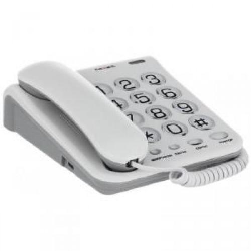 Проводной телефон teXet TX-262, светло-серый
