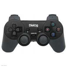 Геймпад Dialog GP-A11 чёрный проводной, 2 мини-джойстика, крестовина, 12 кнопо, виброотдача