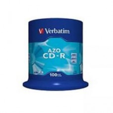Диск CD-R Verbatim DL+ 700Mb 52x,  100шт., Cake Box (43430)