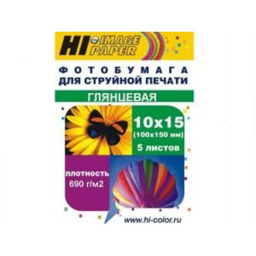 Бумага Hi-image paper (магнитная) 10x15, 690 г/м2, 5 л, глянцевая односторонняя(A20296)