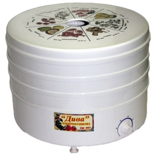 Электросушилка для овощей Дива СШ-007 (5 секций, t-70°) в гофротаре