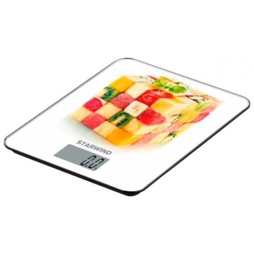 Весы кухонные STARWIND SSK3359,  white (5кг/стекло)