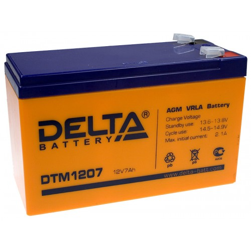 Аккумулятор DELTA DTM 1207 12v 7.2Ah (151x65x94мм)
