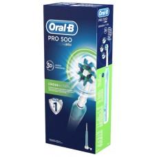Зубная щетка электрическая Oral-B Cross Action PRO-500 Cyan (80272123)