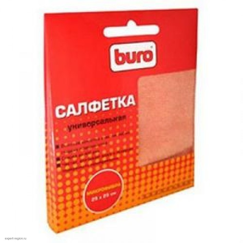 Салфетка чистящая универсальная BURO микрофибра 25х25см BU-MF (1шт)