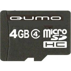 Карта памяти microSD Card 4Gb Qumo Class 4 + адаптер (QM4GMICSDHC4)
