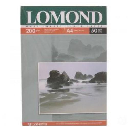 Бумага Lomond для струйной печати А4, 200 г/м2, 50 листов, матовая двусторонняя (0102033)