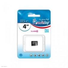 Карта памяти microSD Card 4Gb Smartbuy Class10 HC (SB4GBSDCL10-00)