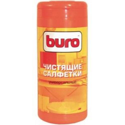 Салфетки чистящие влажные BURO BU-Tscreen для экранов и оптики (100 шт в тубе)