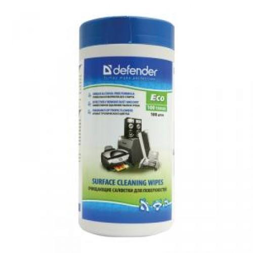 Чистящие салфетки Defender для пластиковых и окрашенных поверхн. CLN30300 в тубе(100шт)