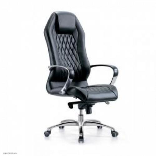 Кресло руководителя Бюрократ Aura/Black черный кожа (алюминий)