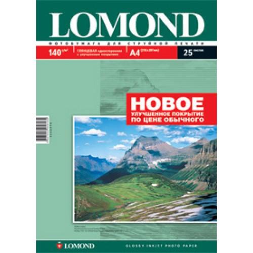 Бумага Lomond для струйной печати А4, 140 г/м2, 25 листов, глянцевая (0102076)