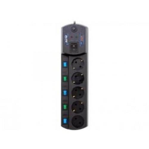 Фильтр сетевой MOST EHV, 5м (5-розеток) black