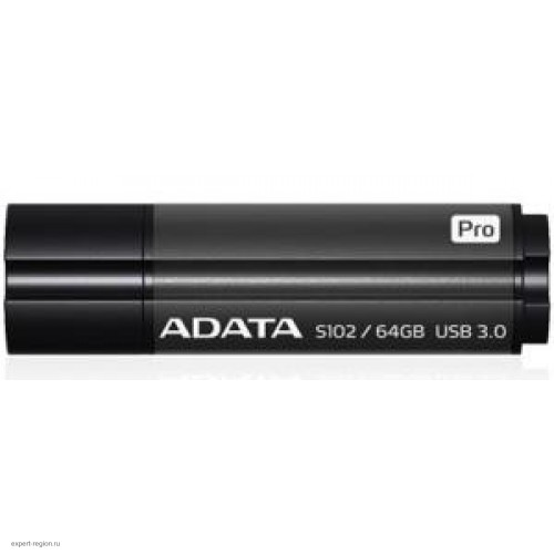 Накопитель USB 3.0 Flash Drive 64Gb A-DATA S102 Pro Superior, серый