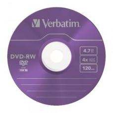 Диск DVD-RW Verbatim 4,7Gb 4x, 5шт, Jewel Case (43229)